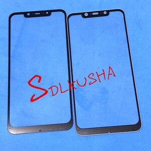 Image 2 - 10 Pcs מול מסך חיצוני זכוכית עדשת החלפת מסך מגע עבור Xiaomi Pocophone F1 Poco F1