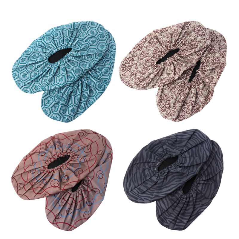 Floral Print Waterproof Shoe Covers Suitable for Universal Shoes with Easy to Wash and Non Slip Property Useful in Rainy season
