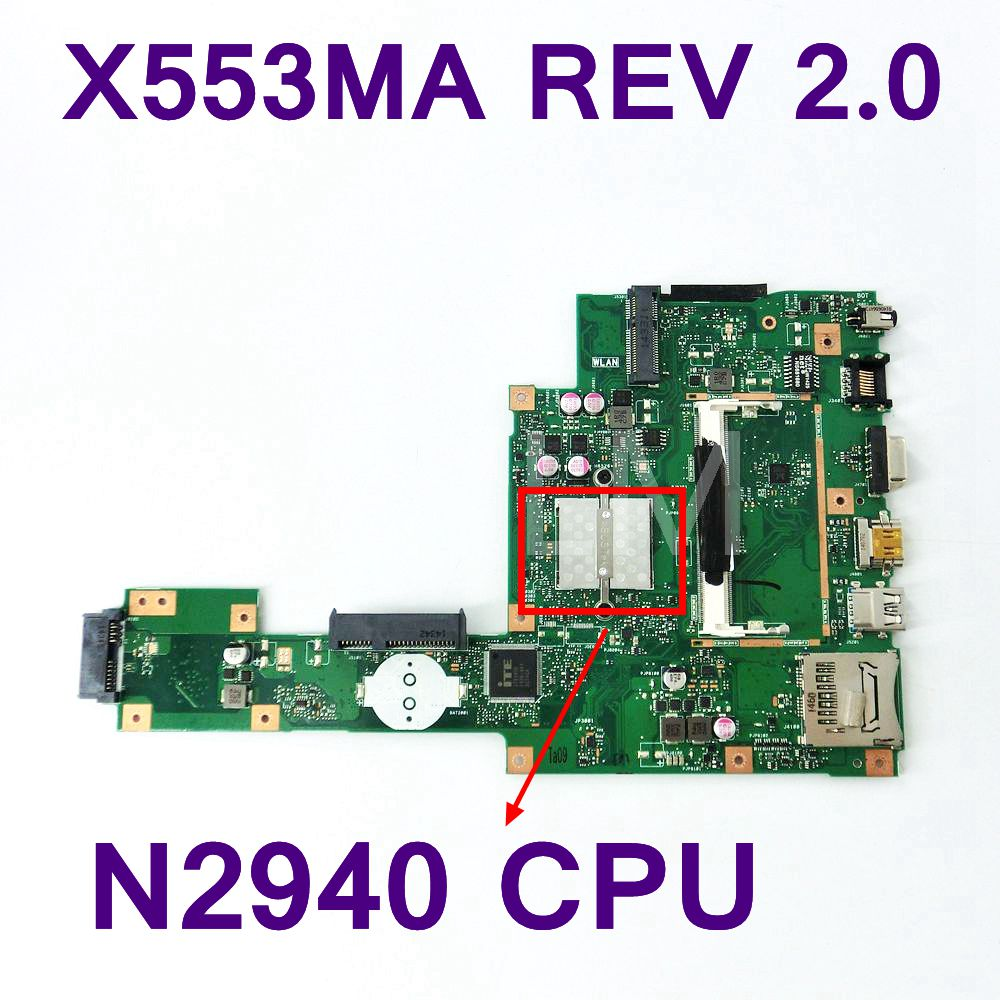 X553MA With N2940U Mainboard REV2.0 For ASUS F503M X503M F553MA X503MA D503M Laptop Motherboard USB3.0 Full Tested Free Shipping все цены
