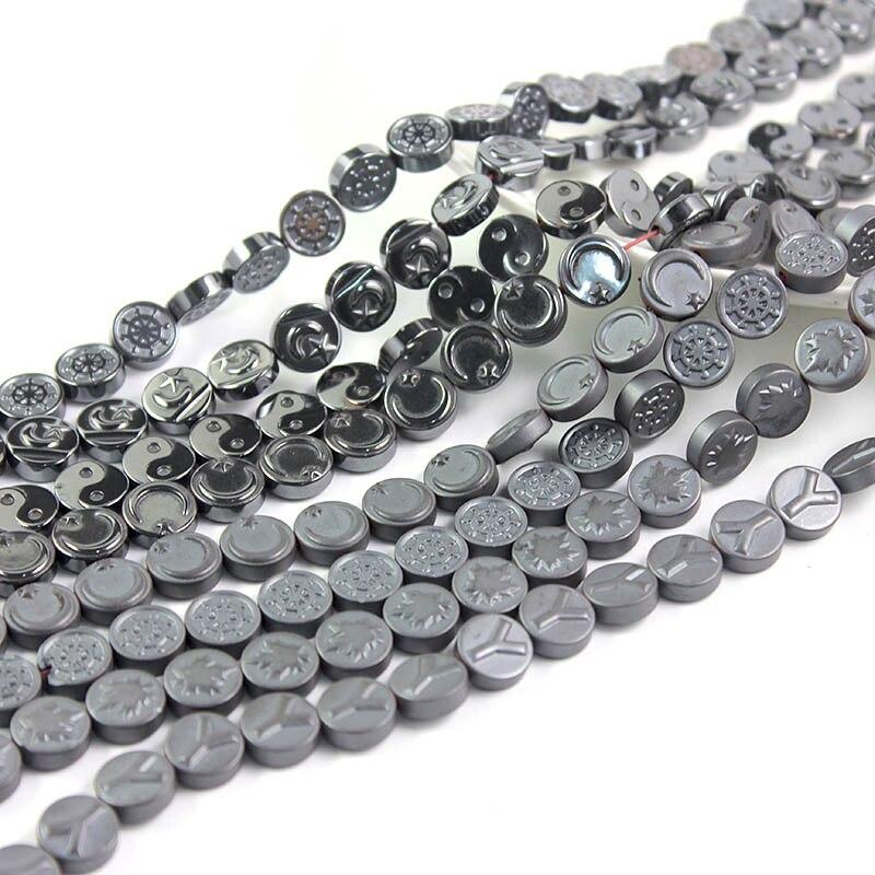 Flat Star Beads 10mm Rainbow 38 Hematite Pcs Gemstones Jewellery Non Magnetic