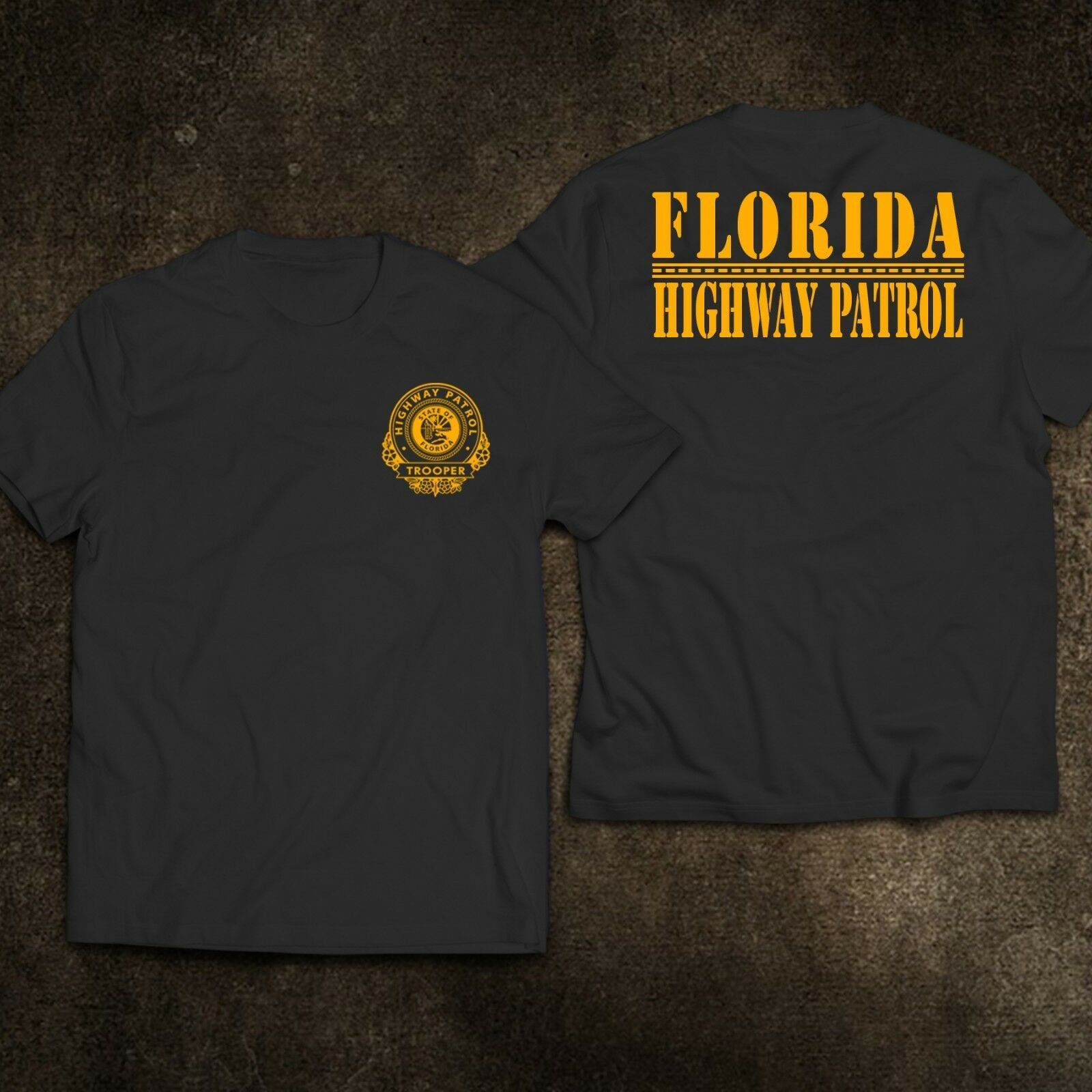 2019 Funny New Florida Highway Patrol Trooper Motor Cycle Unit Police T-Shirt Double Side Unisex Tee