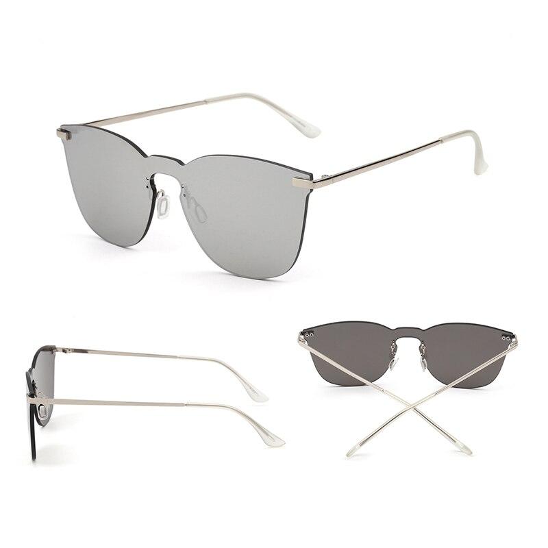 Integrierte Jm Flache Randlose Ein los Großhandel Frauen Platz Stück 10 Teile Mixed Sonnenbrille Colors Gläser Metall Brillen Männer Sonne Gespiegelt 06xrI0S