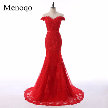 Newest Sweetheart Neck Tulle Mermaid Long Evening Dresses 2019 Cap Sleeves Button Appliques Floor Length Evening Dress