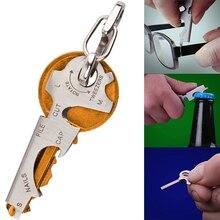 8 в 1 Многофункциональный инструмент ключ из нержавеющей стали открытый многофункциональный инструмент Утилита Многофункциональный брелок цепь открывалка для бутылок