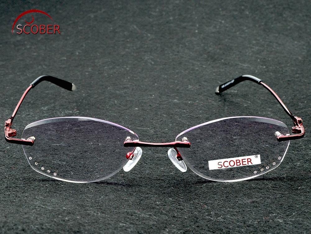 Rimless Titanium Ultra light reading glasses +1 +1.5 +2 +2.5 +3 +3.5 +4Rimless ochki dlya chteniya sin montura gafas de lectura