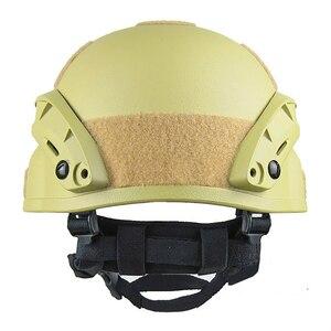 Image 4 - Qualität Leichte SCHNELLE Helm MICH2000 Airsoft MH Taktische Helm Freien Taktische Painball CS SWAT Reiten Schützen Ausrüstung