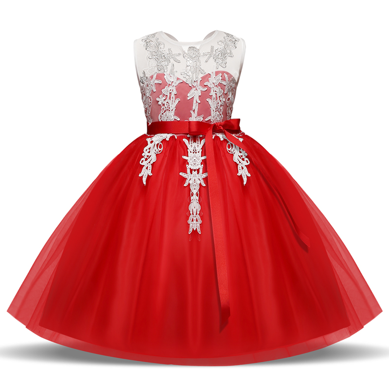 Kids Girl Dress Pageant Princess Tulle Dress For Girl Children Clothing Fancy Lace Dresses Wedding Girl Clothes Little Baby Wear baby girls white dresses for wedding and party wear girl princess dress kids lace clothes children costume age 3 4 5 6 7 8 9 10