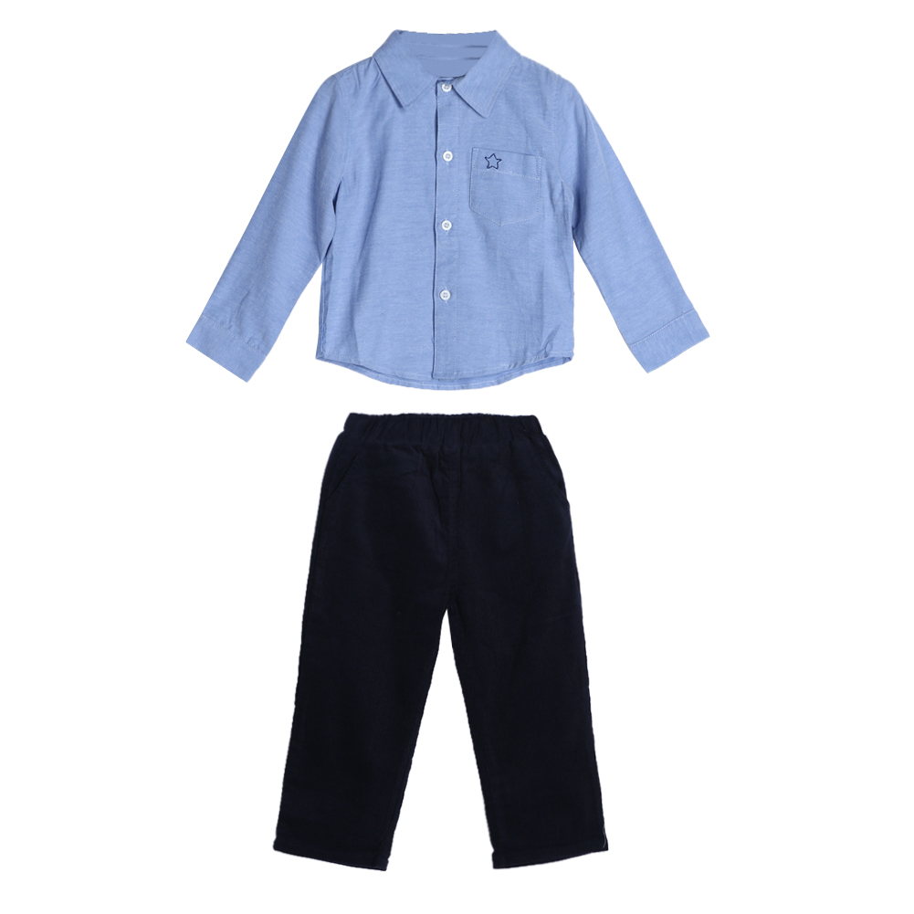 Baby Clothing Set Baby Toddler Kids Boys Long Sleeve Shirt Pants Trousers Clothes Baby Boys Girls Outfit Set FCI#