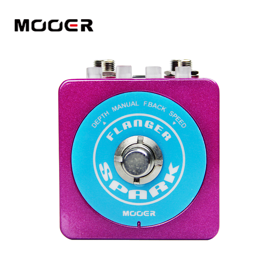 MOOER Spark Series Spark Flanger Inspirational flange sounds from the past to the present Guitar effect pedal цена