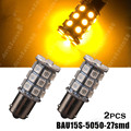 1156PY BAU15S PY21W 7507 27 SMD 5050 Amber Yellow Tail Turn Signal LED Light Bulbs 12V 24V