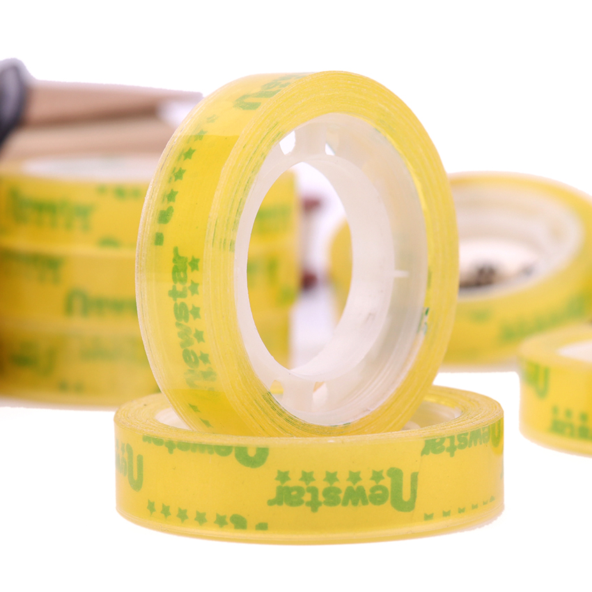 12 PCS/180M Sale Quality Transparent Adhesive Tape Pack Tools School Office Supplies Stationery Tapes