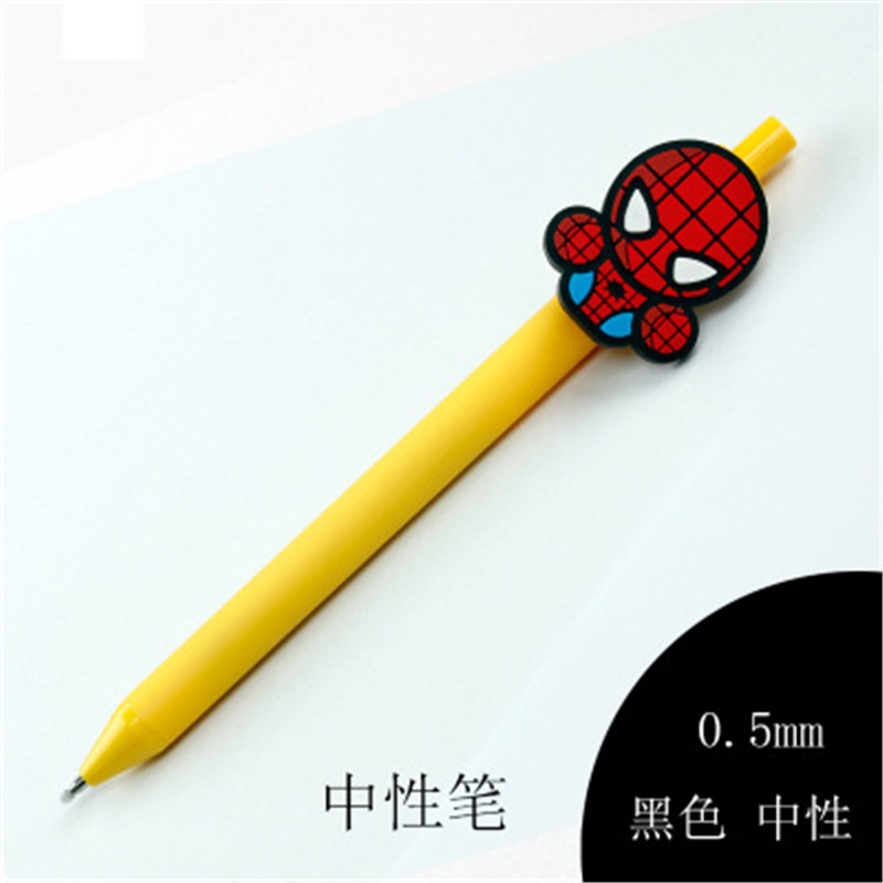 Image 5 - Star wars Cute Gel Pen Kawaii Gel Pen 0.5mm Black ink Candy color pens spider man for Kid Gift escritorio Papelaria-in Gel Pens from Office & School Supplies