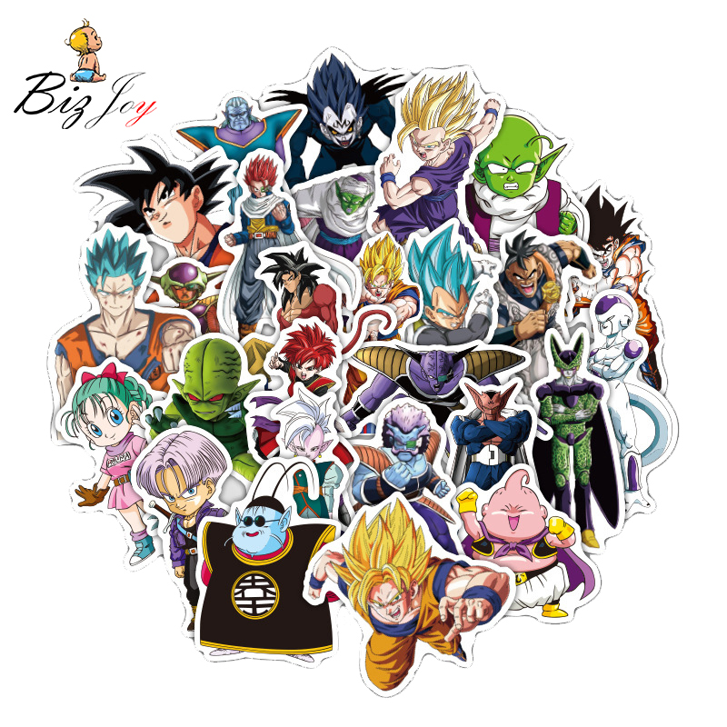 36pcs/lot Stickers Dragon Ball decal doodle Graffiti toy For Moto car suitcase cool laptop stickers Skateboard sticker phone rysunek kolorowy motyle