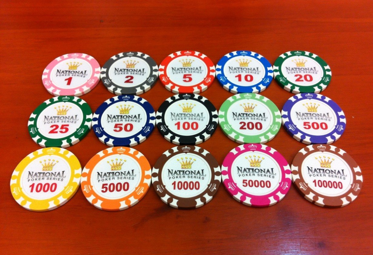 Top False-proof Poker Chips, \/14g Clay ABS Chips, \/40*3.3 Chips Double Crown
