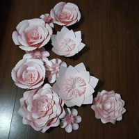 Baby Pink 11PCS SET Giant Paper Flowers For Wedding Backdrop Baby Nursery Fashion Shops Decoration