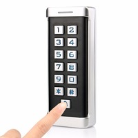 Waterproof IP68 Metal Case Access Control RFID ID Keypad Single Door Stand alone Access Control & Wiegand 26 bit I/O F1419D