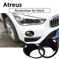 Atreus 2pcs Car ABS Chrome Front Fog Lamp Decoration Trim Covers Sticker For BMW X5 F15