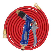 High Quality 25FT-75FT flexible Garden Hose Expandable Pressure Car Wash With Metal Nozzle Set For Outdoor