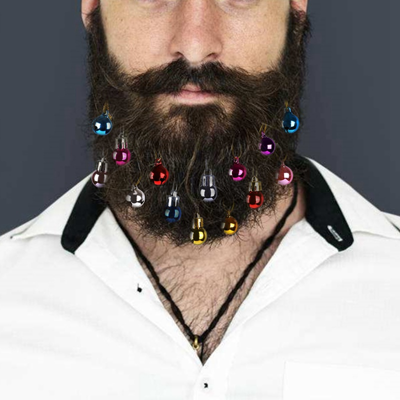 Рождественские украшения в виде шариков, блестящие заколки для волос, легко прикрепить, глянцевые заколки для волос на лице, заколки для бороды для мероприятий, вечерние, 6/12/16 шт|Декоративные шары|   | АлиЭкспресс