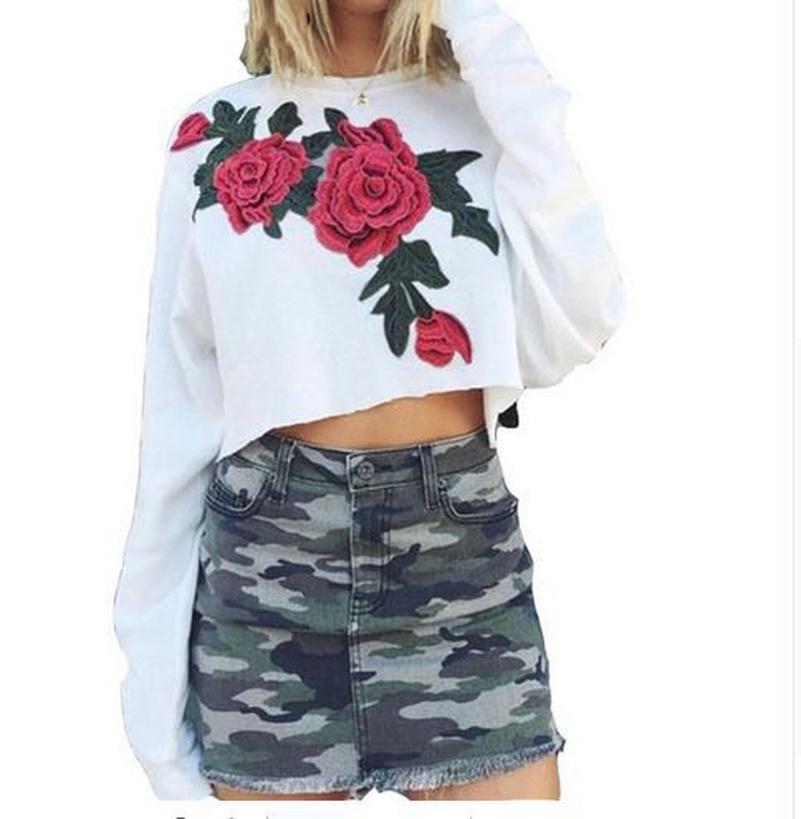 Floral Print Hoodies Sweatshirts 2019 Women Casual Kawaii Harajuku Fashion Punk For Girls Clothing European Tops Korean