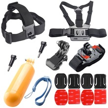 Chest Strap Floaty Bobber Monopod Head Belt Mount For Gopro Hero 5 4 3 For SJCAM for Xiaomi Sjcam SJ4000 Eken Camera Accessories