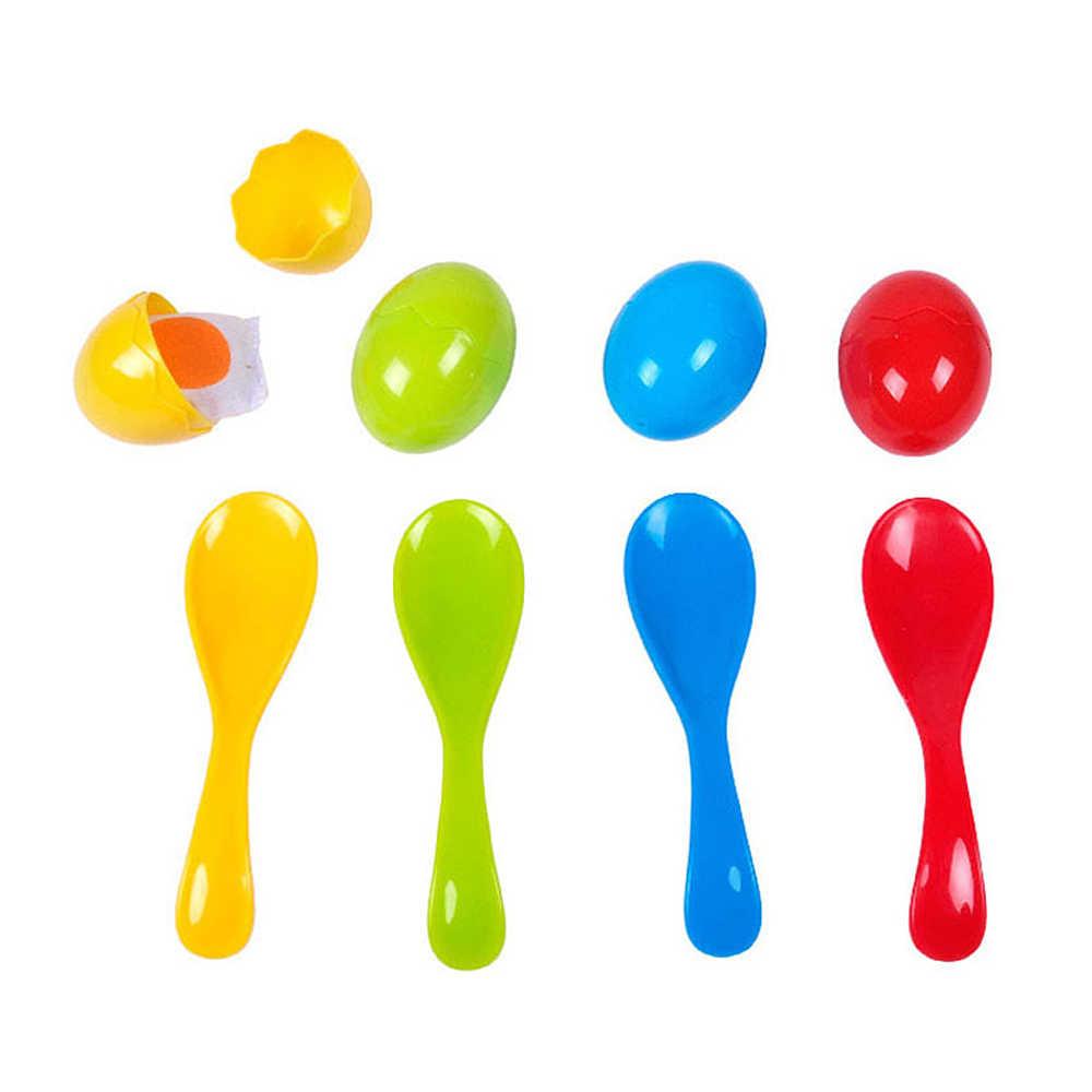 наборы для детей игры Спорт на открытом воздухе вспомогательные игрушки яйца беговые игры сенсорные тренировочные набор ложки с яйцами гонки Обучающие многофункциональные игры ложки с яицами
