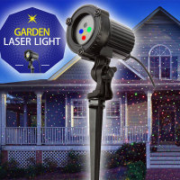 RGB Christmas Laser Fair Lights Outdoor Projection Holiday Lighting For Home Decorations Static effect with Remote Waterproof