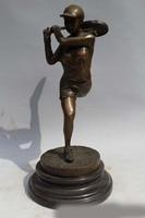10Western Art sculpture Bronze Marble men Exercise play tennis Statue