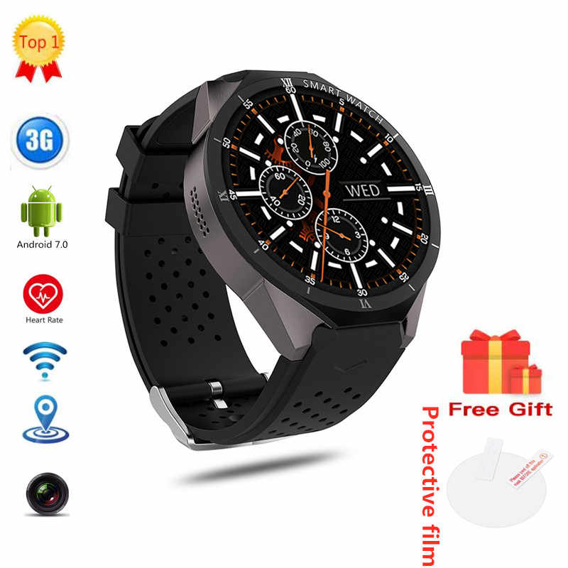 KW88 Pro Android 7.0 Smart Watch Phone 1GB 16GB 1.39 inch 400*400 Screen with 2.0Mp camera gps SmartWatch men for Android IOS
