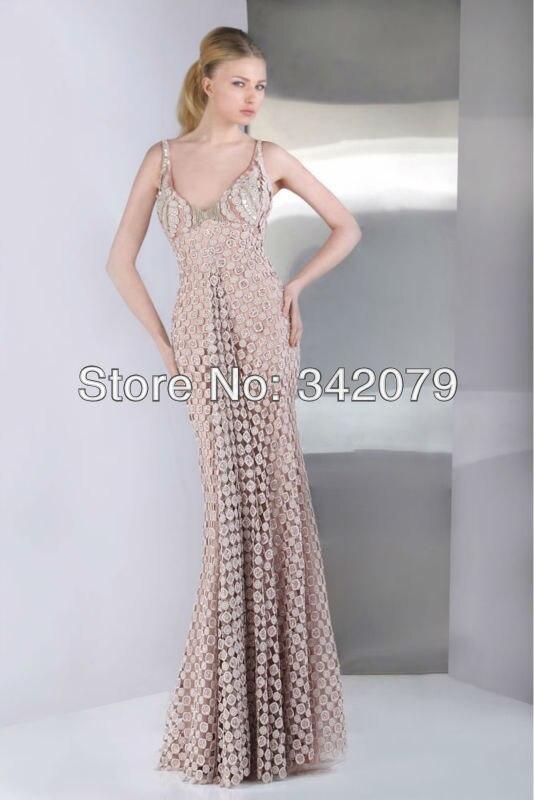 ph09471 tony ward V neckline pastel pink evening dress made of Gazar ...