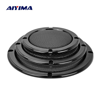 AIYIMA 2Pcs Audio Speakers Altavoz Prtatil Protective Cover 2/4/5/6.5 Inch Protective Mesh Net Grilles DIY Car Speaker Column