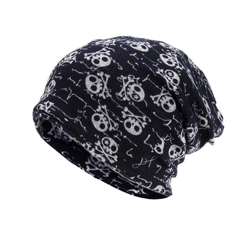 Unikevow шапки с черепом и воротничком, двухслойные многофункциональные шапки на осень и весну, шапки для женщин, мужские спортивные шапки для улицы, s - Цвет: Navy