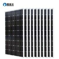Xinpuguang 10*100 Вт Панели солнечные 1000 Вт фотоэлектрических модулей монокристаллические кремниевые ячейки 1KW решетки систем 12 В/24 В комплект бата