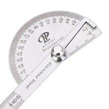 Поворотная измерительная линейка из нержавеющей стали 180 градусов угломер