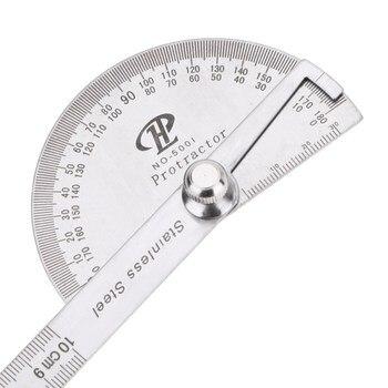 Regla de medición giratoria de brazo de acero inoxidable 180 grados buscador del ángulo del transportador