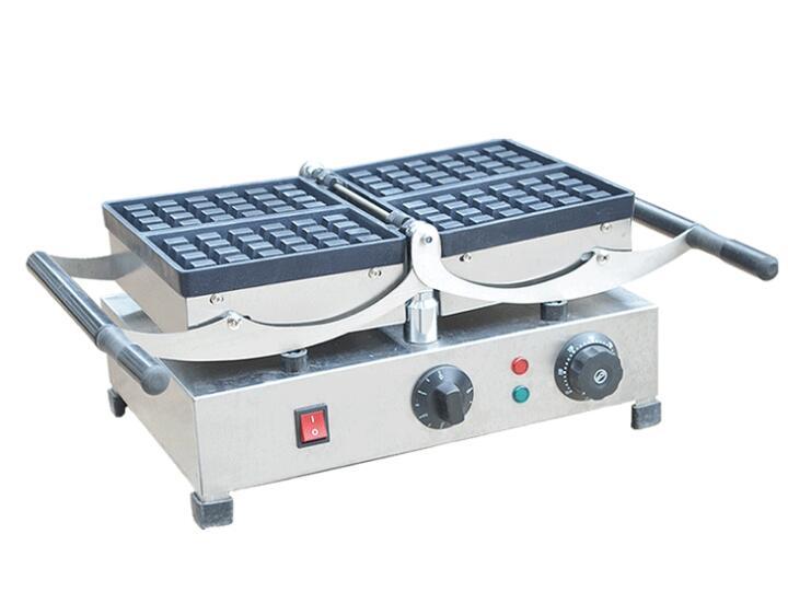 Four à gaufres rotatif populaire Machine à gâteau à carreaux four à gaufre électrique avec plaques de presse à griller pour FY-2201 de Restaurant