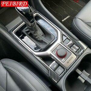 Image 2 - Moulures intérieures pour Subaru Forester 2019 fibre de carbone Center climatisation sortie évent décoration couverture garniture