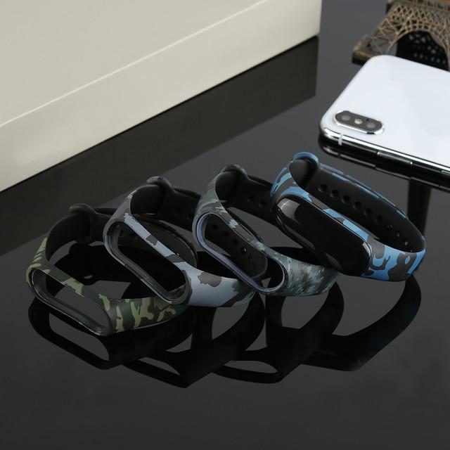 centechia Silicone Color printing Sport for xiaomi mi band 3 Smart strap for