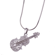 FNC1501230 Top Quality Necklace Fashion Woman's Necklace Sets Crystal Unique Violin Design Wedding Jewelry