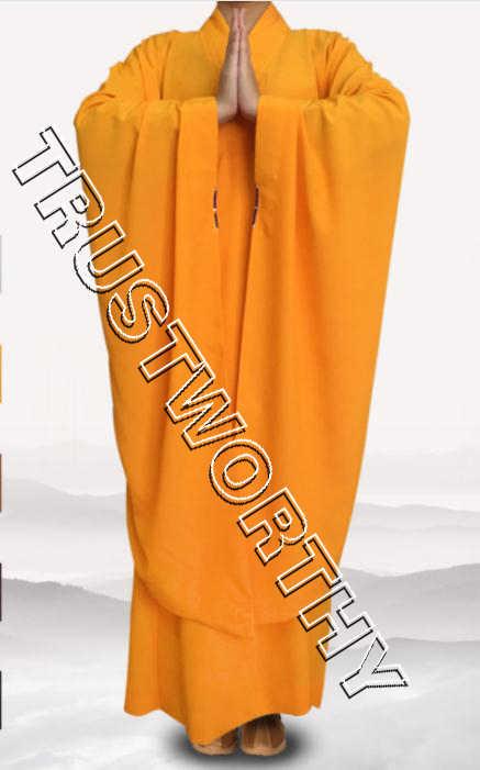 5色ユニセックス仏教少林寺僧侶ワイドスリーブローブ制服築く瞑想ガウン服コプソーン黒/グレー/イエロー/コーヒー