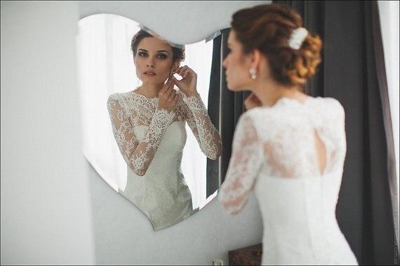 Simple Style Hot Sales 2015 Mermaid Bridal Gowns Scoop Neckline Long ...
