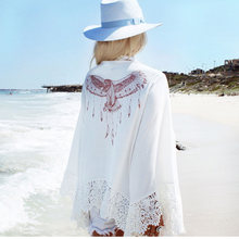 Chiffon Beach Cover Up Crochet Wanita Beachwear Swimsuit Menutupi Baju Renang Cover Up Pantai Gaun Jubah Pantai Pantai Pareos(China)