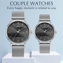 New Mens watches NAVIFORCE Luxury brand Quartz simple men Women Set watch Waterproof men's Couple Wristwatch Relogio Masculino