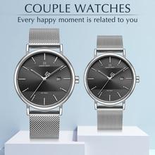 Nuevos relojes para hombre marca de lujo NAVIFORCE cuarzo simple hombres mujeres Conjunto de reloj impermeable par de hombres reloj de pulsera reloj Masculino