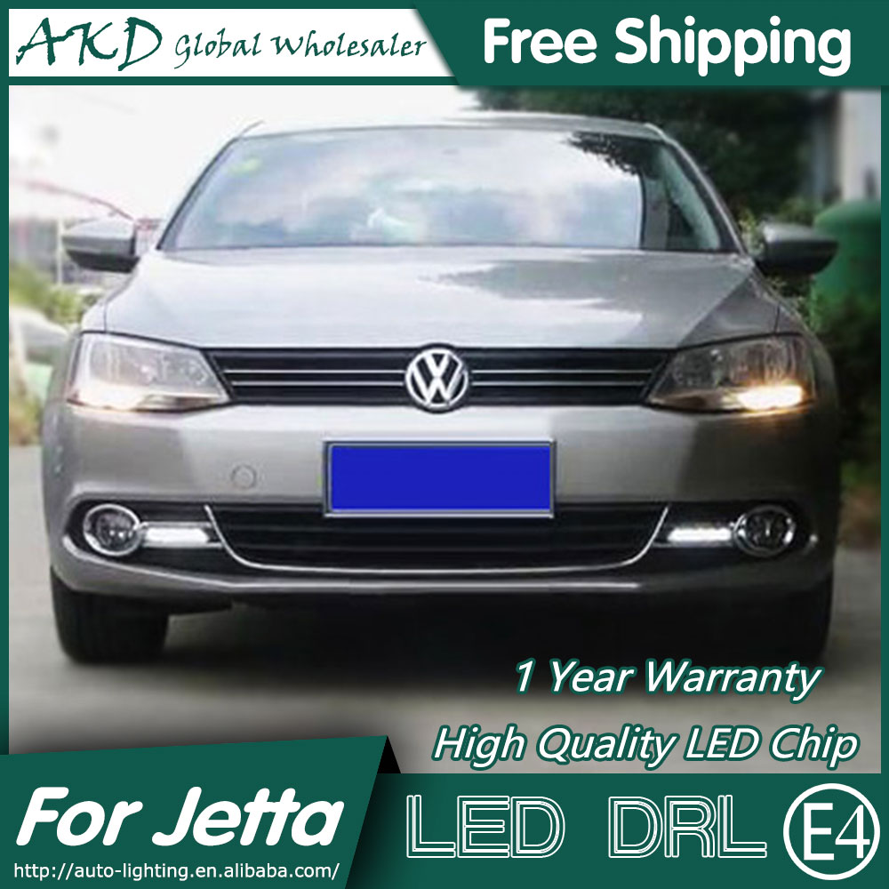 AKD Car Styling for VW Jetta LED DRL 2012-2014 Jetta Mk6 LED Daytime Running Light Fog Light Signal Parking Accessories akd car styling for kia sportage r drl 2014 new sportager led drl korea design led running light fog light parking accessories
