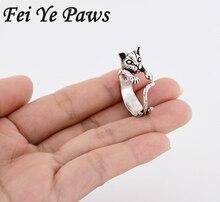 Здесь можно купить  1 Pcs New Fashion Handmade Couple Cute Adjustable Animal Kitty Wrap Ring Hippie Mid Finger Cat Rings For Women Men Fine Jewelry