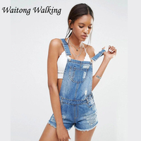 2017 Summer Women Denim Jumpsuits Plus Size Overall Ripped Jeans Shorts For Ladies Rompers Clothes M104