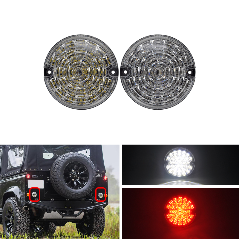 For Land Rover Defender 2001 2016 Cabrio 90 16 Upgrade Led 95mm Round Rear Fog Reverse