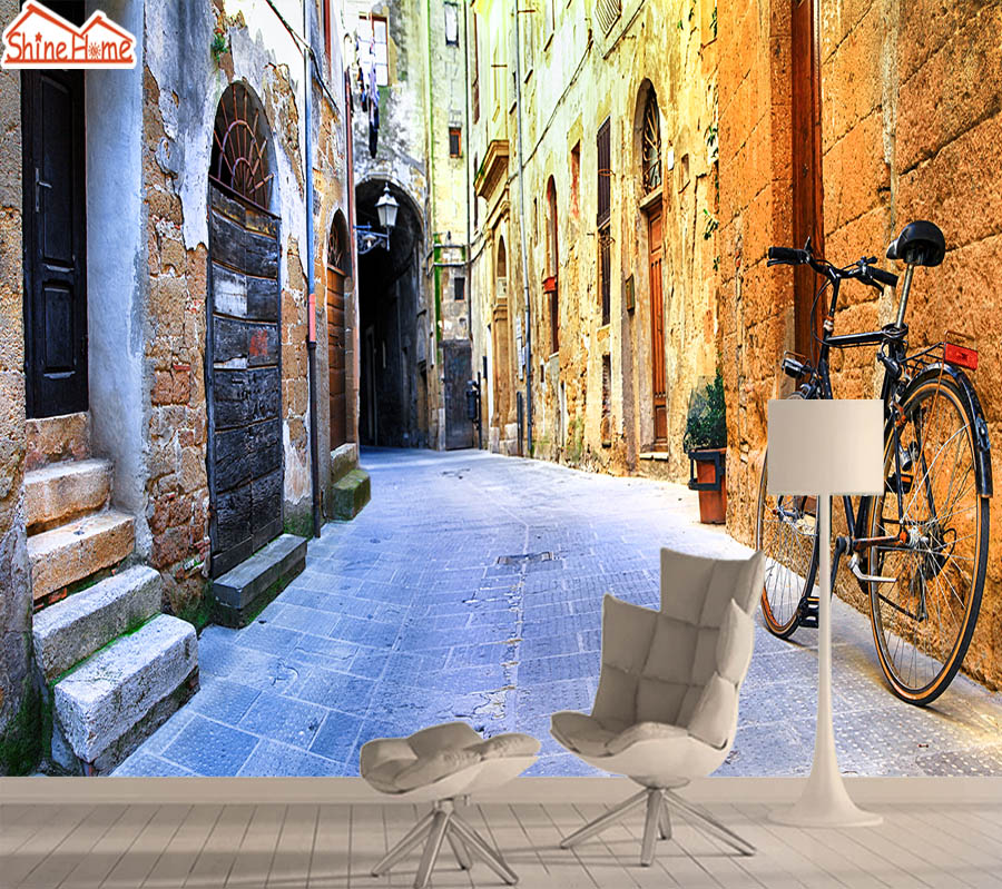 City Street 3d Mural Wallpaper Paper Wall Papers Home Decor Wallpapers For Living Room Bedroom Self Adhesive Murals Walls Rolls