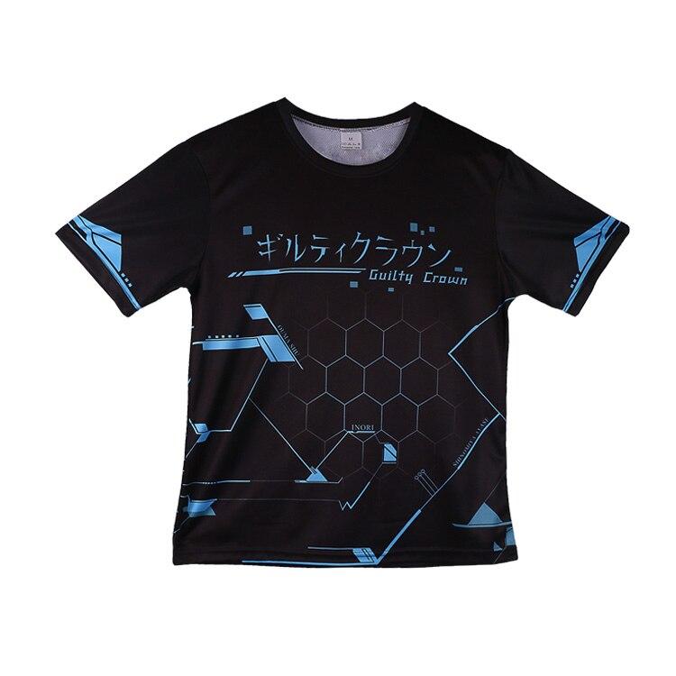 Cosplaydiy Guilty Crown Theme T-shirt Inori Yuzuriha Polyester T Shirt Fashion Summer Active Otaku Cosplay Top Tees Costume J10